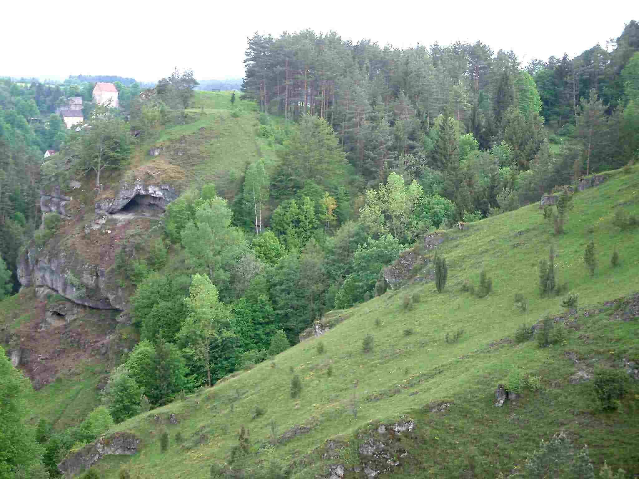 Landschaft bei Pottenstein