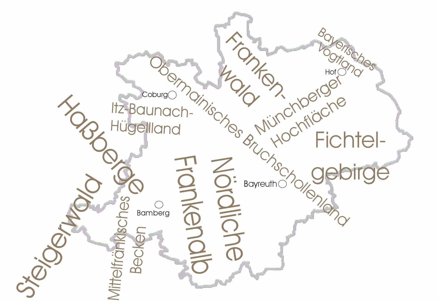 Oberfrankenkarte